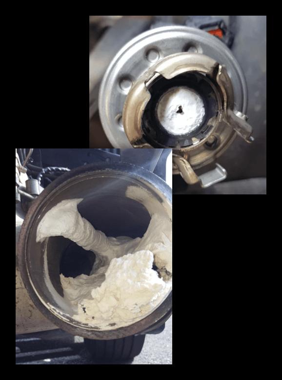 Diesel Exhaust Fluid DEF Crystallization examples